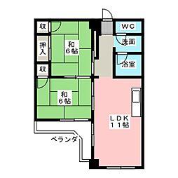 セブンスターマンション[8階]の間取り