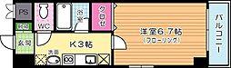 福岡県北九州市小倉北区馬借1丁目の賃貸マンションの間取り