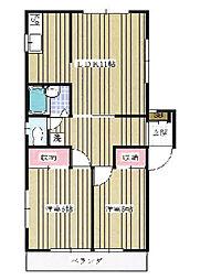 クリスタル21C棟[1階]の間取り