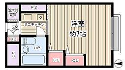 マンション新大阪[4階]の間取り