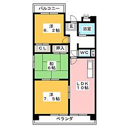 スプリームマンション[3階]の間取り