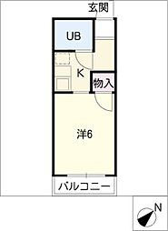 第二グリーンハイツ[1階]の間取り