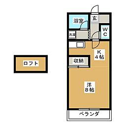 アビタシオン大垣[3階]の間取り