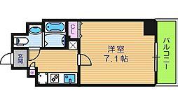 大阪府大阪市住吉区長居東4丁目の賃貸マンションの間取り
