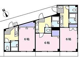 コスモ生田[2階]の間取り