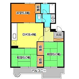 エスポワール清瀬[2階]の間取り