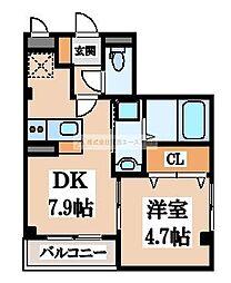 (仮称)D-room大町東[4階]の間取り