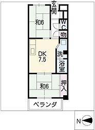 シャトー桐野[3階]の間取り