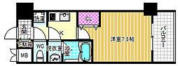 Mid Court Umekita[8階]の間取り