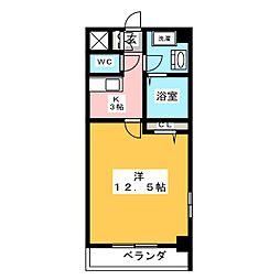 フラット12[6階]の間取り