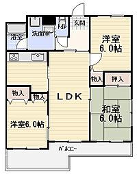 ファミーユ高瀬[2階]の間取り