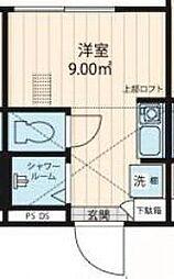 Nano上落合 2階ワンルームの間取り