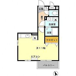 埼玉県熊谷市銀座7丁目の賃貸アパートの間取り