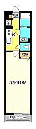 OYO LIFE #2366 リブリ・Latte 2階1Kの間取り