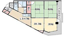 Osaka Metro御堂筋線 新大阪駅 徒歩6分の賃貸マンション 6階4LDKの間取り