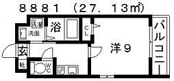 ステラウッド道明寺I[3階]の間取り