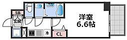 エスリード大阪CENTRAL AVENUE 8階1Kの間取り