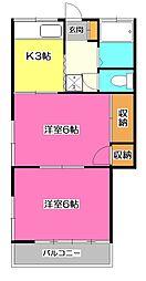 第二ひばり荘[2階]の間取り