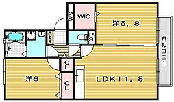 オークス玉瀬II[3階]の間取り