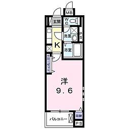 バス 宜野湾下車 徒歩2分の賃貸アパート 3階1Kの間取り