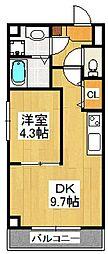 Pear Residence Minato[701号室]の間取り