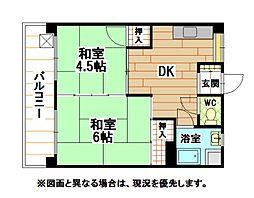 第一白石ビル[6階]の間取り