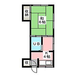 小田川ハイツ[2階]の間取り