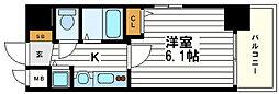 プレサンス心斎橋モデルノ[9階]の間取り
