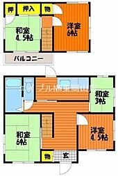 [一戸建] 岡山県岡山市中区雄町丁目なし の賃貸【/】の間取り