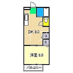 ラピス B棟[1階]の間取り