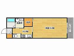 兵庫県姫路市飾磨区下野田2丁目の賃貸アパートの間取り
