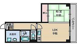 ハイマート第2新大阪[8階]の間取り