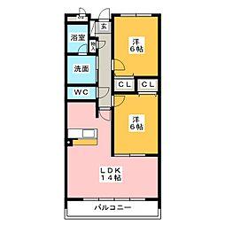 アネックス一宮II[4階]の間取り
