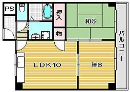 オーソライズ茨木[3階]の間取り
