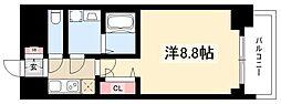 プレサンス錦通THE葵 14階1Kの間取り