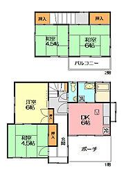 [一戸建] 神奈川県平塚市西八幡2丁目 の賃貸【/】の間取り
