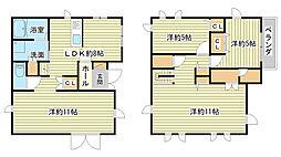 [一戸建] 兵庫県姫路市飾磨区阿成 の賃貸【/】の間取り