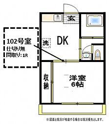 コーポモナミ[1階]の間取り