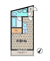 スターダスト日光台C棟[3階]の間取り