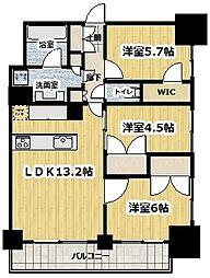 ライトテラス新宿御苑 9階3LDKの間取り