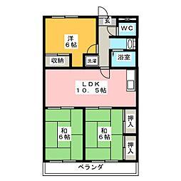 ソーシャルOmoriII[2階]の間取り