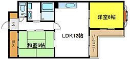 ラップマンション[6階]の間取り