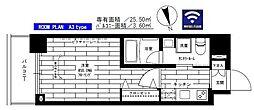ステージグランデ上野 2階1Kの間取り