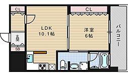 リーガル四ツ橋立売堀II[203号室]の間取り