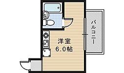 エクラ阿倍野[2階]の間取り
