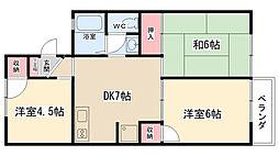 コーポラス渋谷1[202号室]の間取り