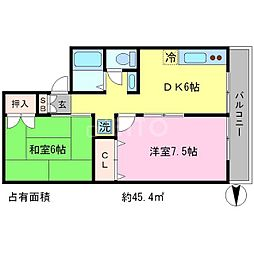 セジュールアルカディア[2階]の間取り