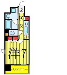 ディームス大塚 6階1Kの間取り