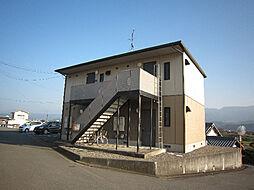 愛媛県東温市西岡の賃貸アパートの外観