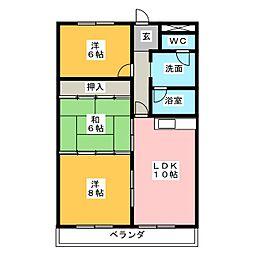 津ロードリーマンション[8階]の間取り